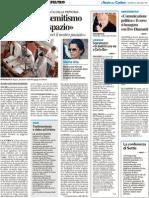 """Scaramucci """"una via a Bo"""" / Conferenza di Settis / """"Comunicazione politica di Ilvo Diamanti / Giornata della memoria - Il Resto del Carlino del 27 gennaio 2011"""