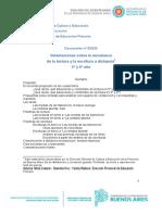 Documento N° 5  20 Orientaciiones sobre la enseñanza de la lectura y la escritura a distancia 5° y 6° año DPEP