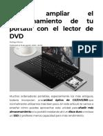 Cómo ampliar el almacenamiento de tu portátil con el lector de DVD