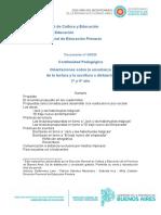 Documento N° 4  20 Orientaciones sobre la enseñanza de la lectura y escritura a distancia 3° y 4° año DPEP