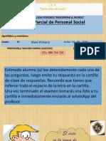 Examen Bimestral de Personal Social 5º Prim.