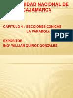 4º LAMINA SECCIONES CONICAS LA PARABOLA