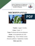 Evolución de las Microfinanzas