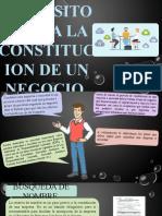 CONSTITUCION DE UN NEGOCIO