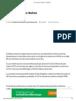 La era del gas en Bolivia - GestioPolis