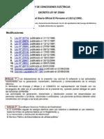 LEY DE CONCESIONES ELÉCTRICAS