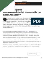 Como configurar blacklist_whitelist de e-mails no SpamAssassin™ _ HostDime Brasil – Central de Ajuda