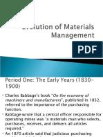 Evolution of Materials Management