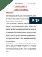 LABORATORIO ACIDOS CARBOXILICOS