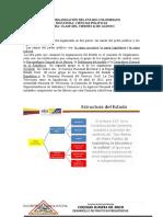 ESTRUCTURA DE LA ORGANIZACION POLITICA DE COLOMBIA