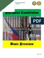 Basic Premises of Philippine Constitution pdf.