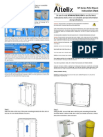 Altelix Enclosure NP series pole mount instrucción Sheet