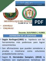 HIPOTESIS Y VARIABLES  MEDICINA 2020