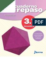 MI CUADERNO DE REPASO MATEMATICAS 3 SECUNDARIA NORMA