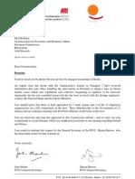 Scrisoare ETUC - ETUI Oli Rehn