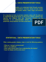 Statistical Data Presentation Tools