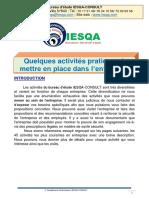 Activités pratiques IESQA