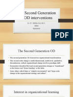The Second Generation of OD interventions
