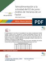 RETROALIMENTACION ACTIVIDAD DEL 02 DE JUNIO ANALISIS DE VARIANZA