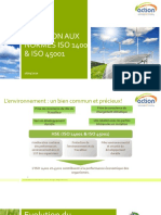 Support de vulgarisation de la norme ISO 14k & ISO 45k