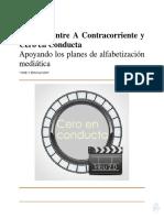 Acuerdo a Contracorriente y Cero en Conducta #CineyEducación Curso 2020 y 2021