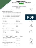 (REVIEW) P4 MATHEMATICS First Term Assessment 2020-2021