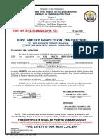 FSED 005 FSIC for New Business Permit REV 2