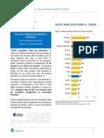Nota Analitica IPRE cu privire la accidentele rutiere produse în Moldova și în Chișinău