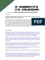 Lunar Sabbath's in God's Calendar - Response to Lynnford Beachy
