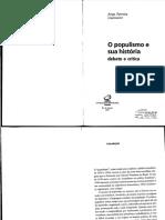 GOMES, Ângela. O populismo e as ciências sociais no Brasil notas sobre a trajetória de um conceito. In. O populismo e sua história