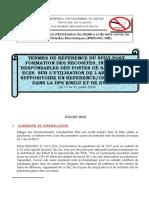 TDR DEUXIEME SUIVI POST FORMATION PROJET CARAMAL  JUILLET  2019 OK (1)