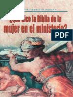 30.-Que dice la Biblia de la mujer en el ministerio