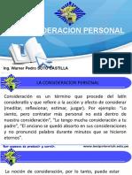 Semana 3 La Consideración Personal.