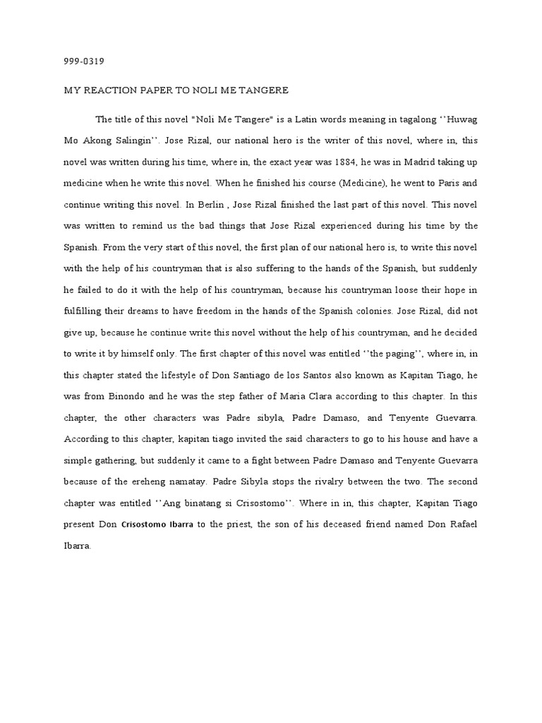 reaction paper in the movie jose rizal Reaction paper on the movie rizal the movie jose rizal is all about our national hero dr jose rizal - his life and works, his struggles in order to free his countrymen from abuse, until his death under the hands of the spaniards who occupied our country for a very long time.
