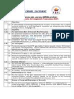 Scheme Document for Online FDP 2020-21