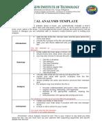 CRITICAL ANALYSIS TEMPLATE (2)