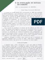 Crescimento Da População Do Estado Do Paraná - Lysia Bernardes 1951
