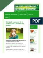 Alergia la ambrozia, de ce apare si cum o putem trata eficient – Blogul Minunea