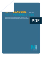 Mba New Leaders New Perspectives