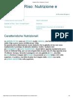 Gallette di Riso - Nutrizione e Pericoli