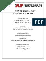 FUNCIÓN DE REGULACIÓN ECONÓMICA Y SOCIAL caratula