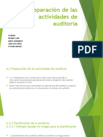 Preparación de las actividades de auditoria
