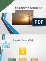Renewable Energy landscape Bangladesh  04112018