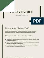 pasive voice