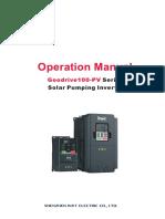 Goodrive100_PV Series Solar Pumping Inverter