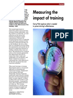 Measuring the impact of training