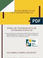 Índice de Transparencia de las Entidades Públicas