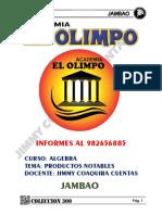 ALGEBRA CAPITULO 4 PRODUCTOS NOTABLES