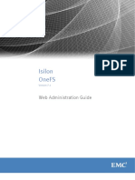 Isilon GUI administration