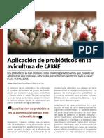 Aplicación de probióticos en la avicultura de carne